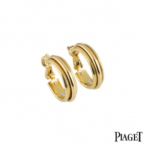Piaget Yellow Gold Possession Hoop Earrings